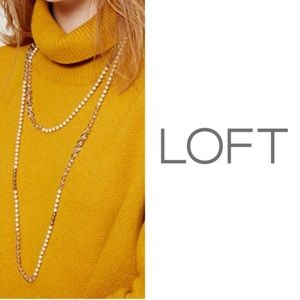 Loft Faux Extra Long Pearlized Necklace